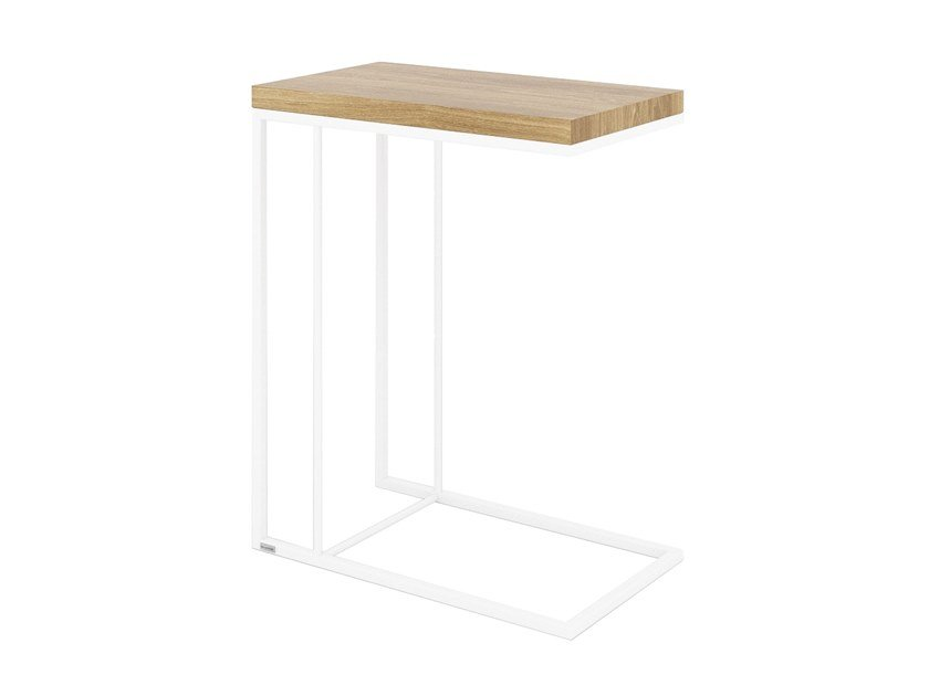 Steel and wood side table FELIX | Steel and wood coffee table by take me HOME