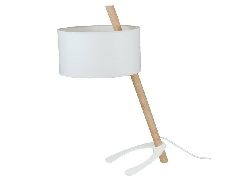 Wooden table lamp FENDY by LUZ EVA