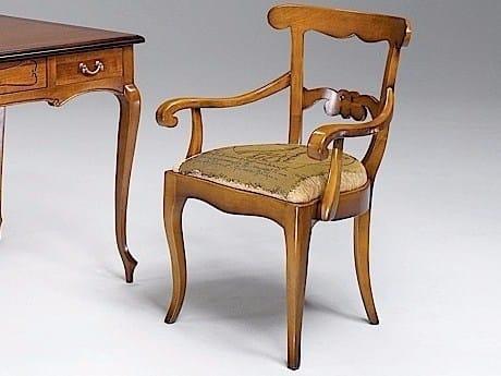 Sedia imbottita con braccioli FENICE | Sedia con schienale aperto by Arvestyle