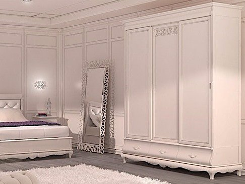 Wooden wardrobe with sliding doors FENICE | Wardrobe with sliding doors by Arvestyle