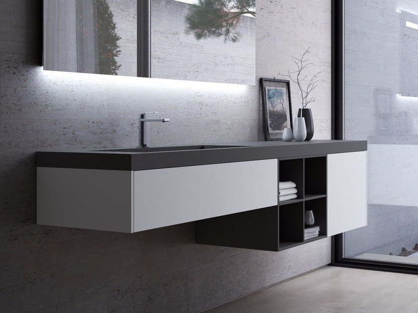 fenix ntm washbasin with integrated countertop fenix ntm washbasin with countertop by fenix ntm. Black Bedroom Furniture Sets. Home Design Ideas