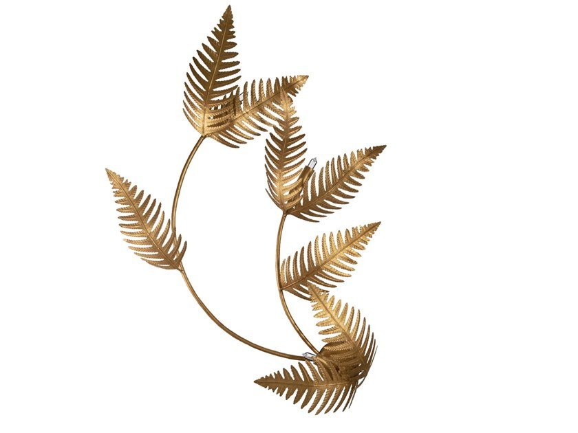 Handmade metal wall lamp FERN LARGE by Abrissi