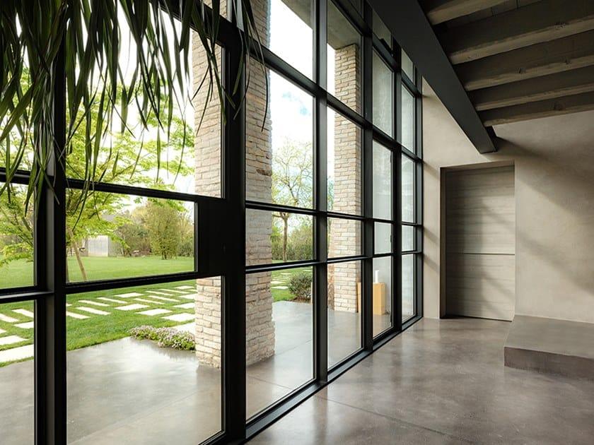 Continuous facade system FERROFINESTRA® T42 TB by OTTOSTUMM