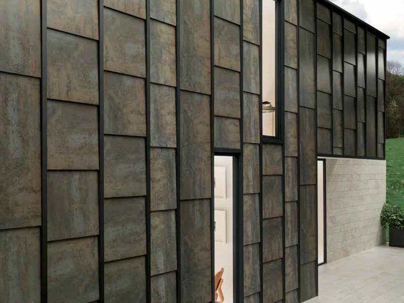 Outdoor porcelain stoneware wall tiles FERROKER | Outdoor wall tiles by Venis