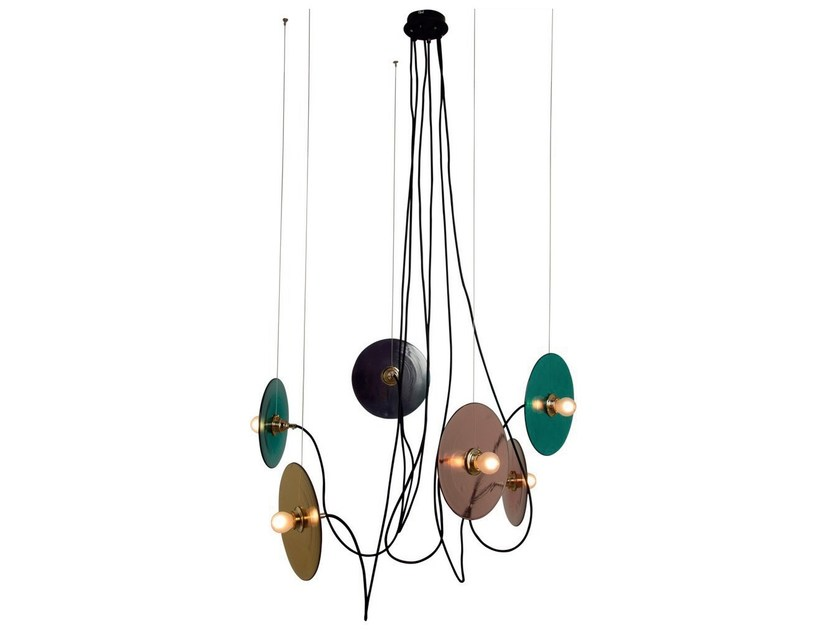 Stained glass pendant lamp FEST | Pendant lamp by Aromas del Campo