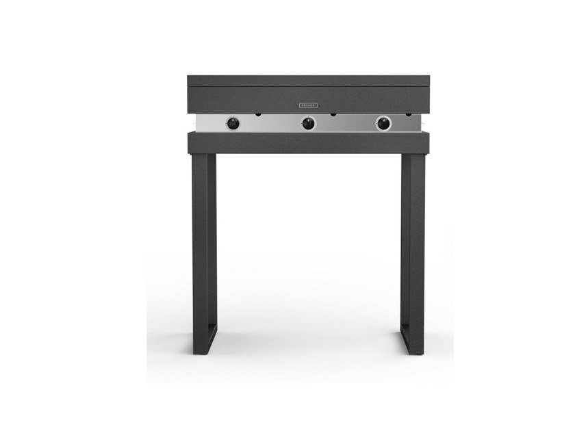 Portable gas 750 with fixed tubolar legs FGA 750 + FGF GAS | Barbecue by Fògher