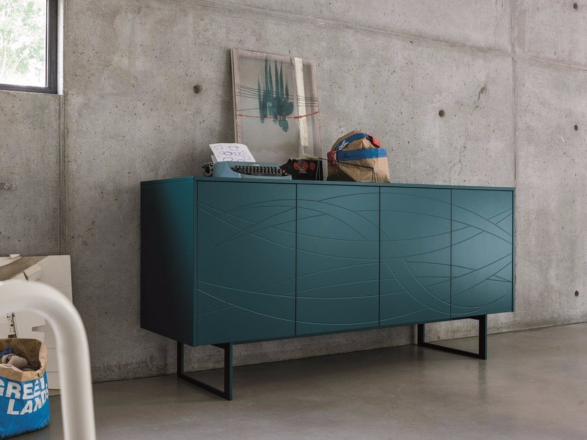 Lacquered sideboard with doors FIAMMA | Lacquered sideboard by Dall'Agnese