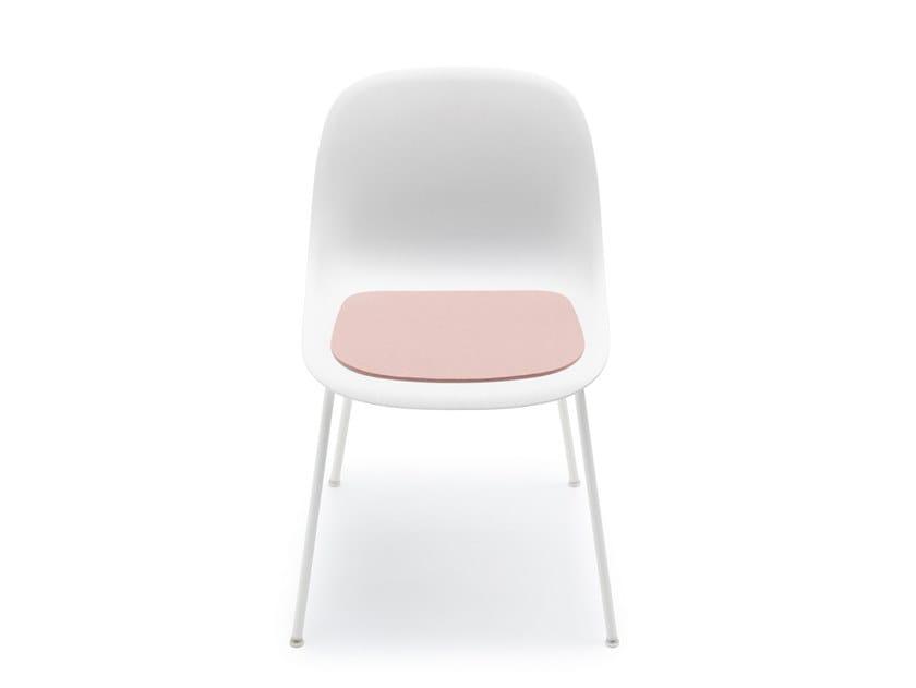 Solid-color felt chair cushion FIBER by HEY-SIGN