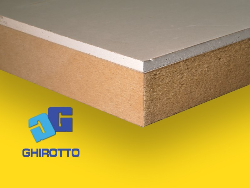 Plasterboard thermal insulation felt FIBERHOLZ GIPS by GHIROTTO