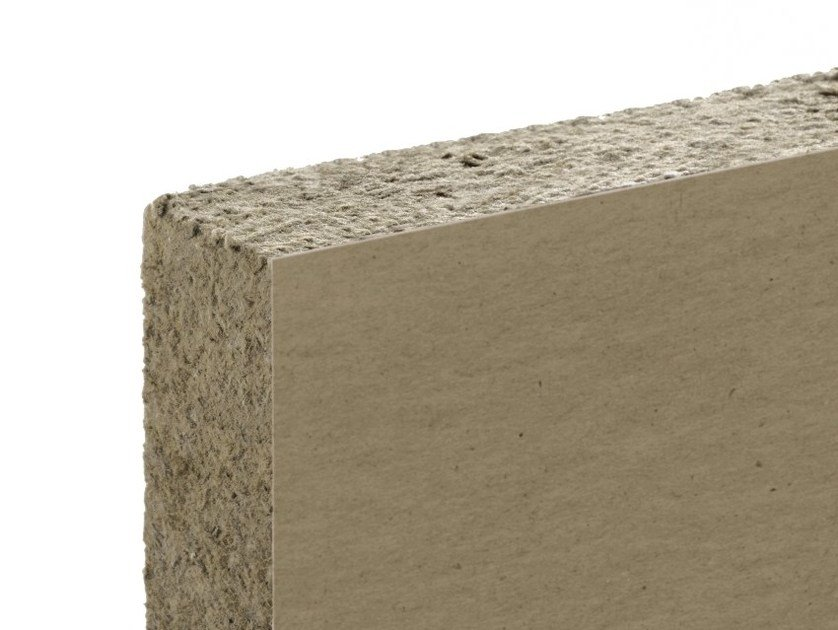 Thermal insulation sheet and panel in mineral fibre / Sound insulation and sound absorbing panel in mineral fibre FIBRANgeo B-090 AX by Fibran