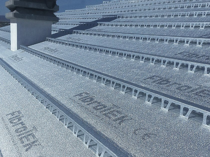 Ventilated roof system / thermal insulation panel FIBROTEK by FIBROTUBI