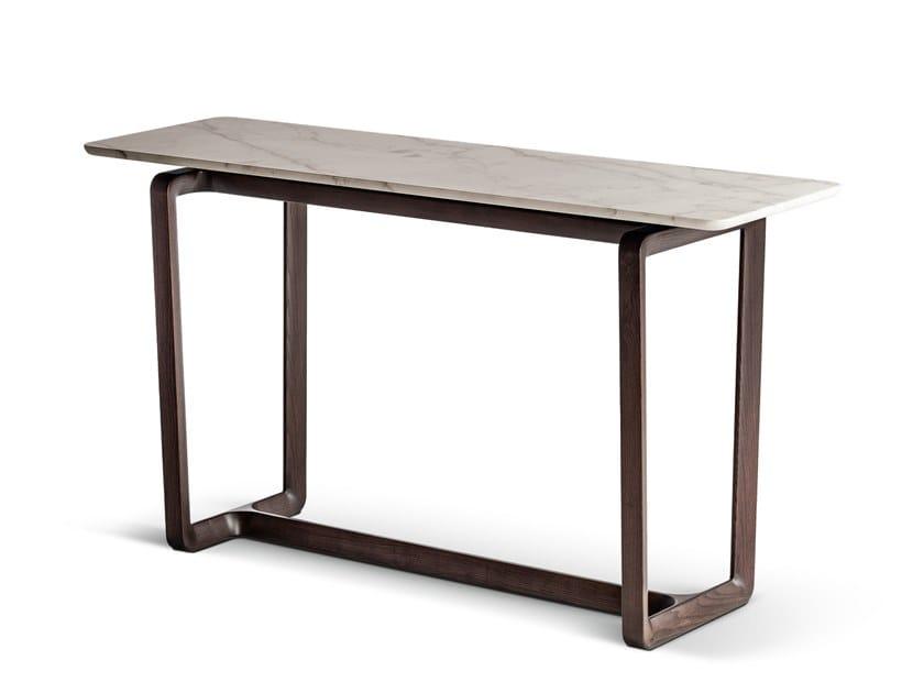 Consolle rettangolare in legno e marmo FIDELIO | Consolle rettangolare by Poltrona Frau