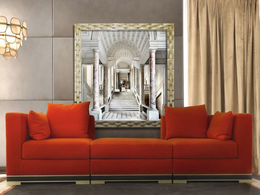 Sectional 3 seater wool sofa FIESOLE | Sectional sofa by Formitalia