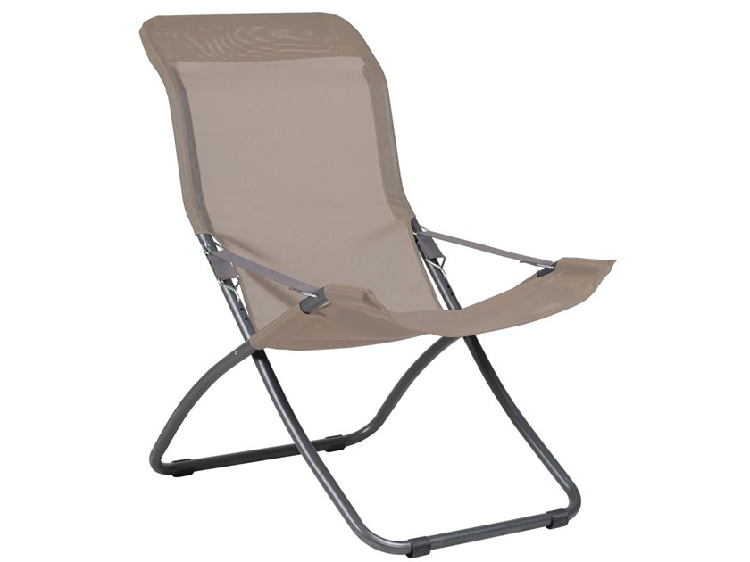 Oppdatert Folding deck chair with armrests FIESTA XL By FIAM ZM-53