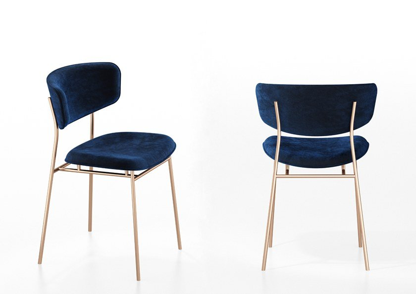 FIFTIES | Sedia in velluto Collezione Fifties By Calligaris design ...