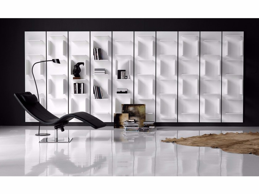 Wall-mounted sectional lacquered bookcase FIFTY by Cattelan Italia