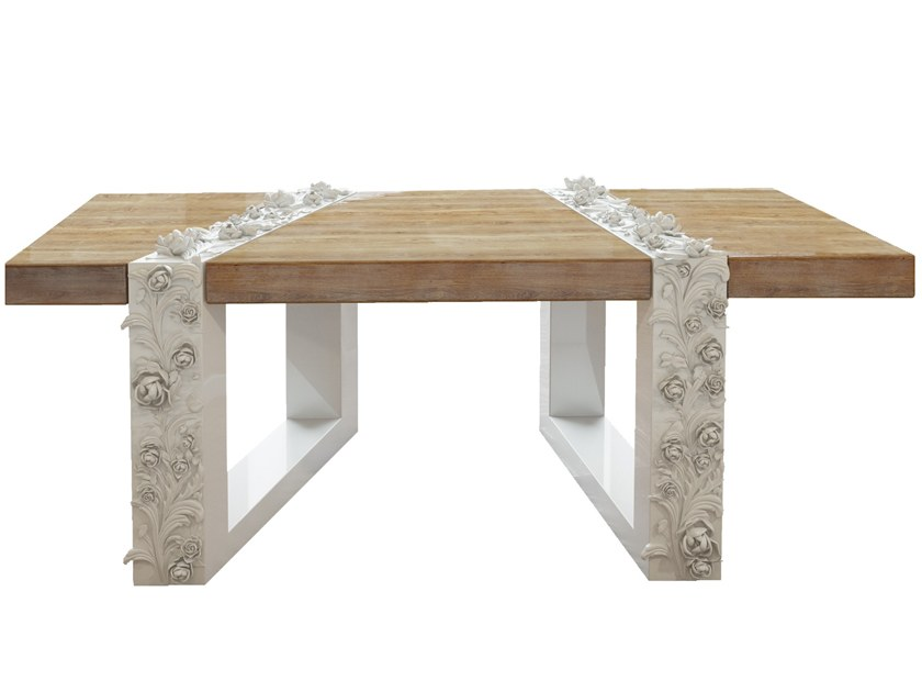 Lacquered rectangular wooden coffee table FIGEN | Coffee table by Malabar