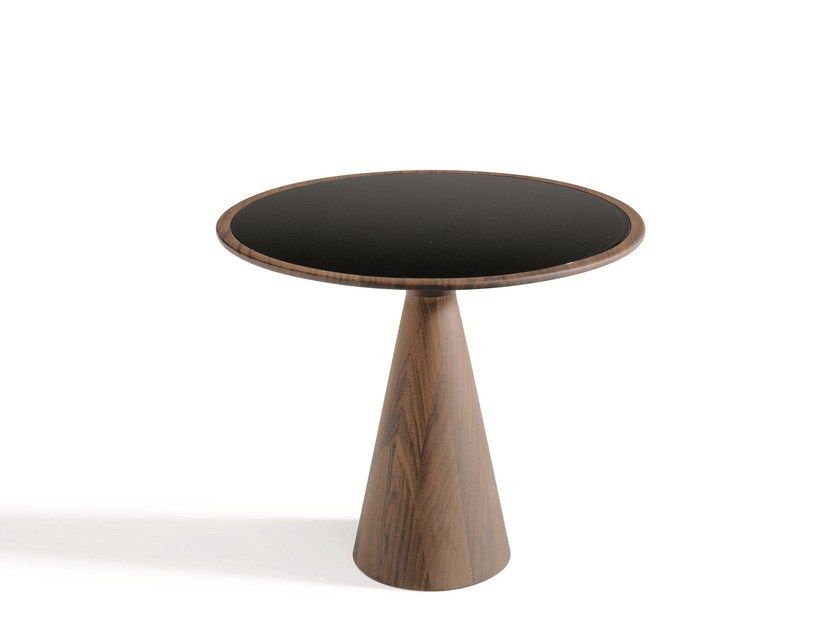 Round wooden coffee table FIGURA by Draenert