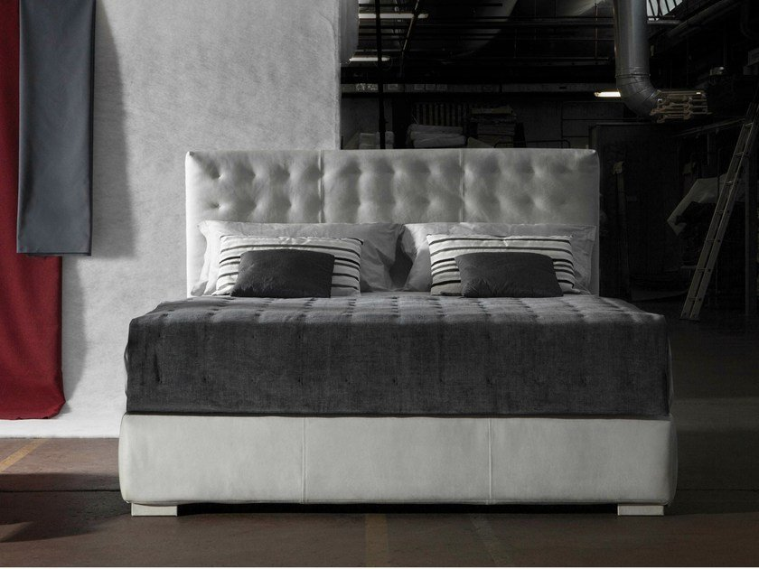 Upholstered fabric double bed FIJI by Milano Bedding