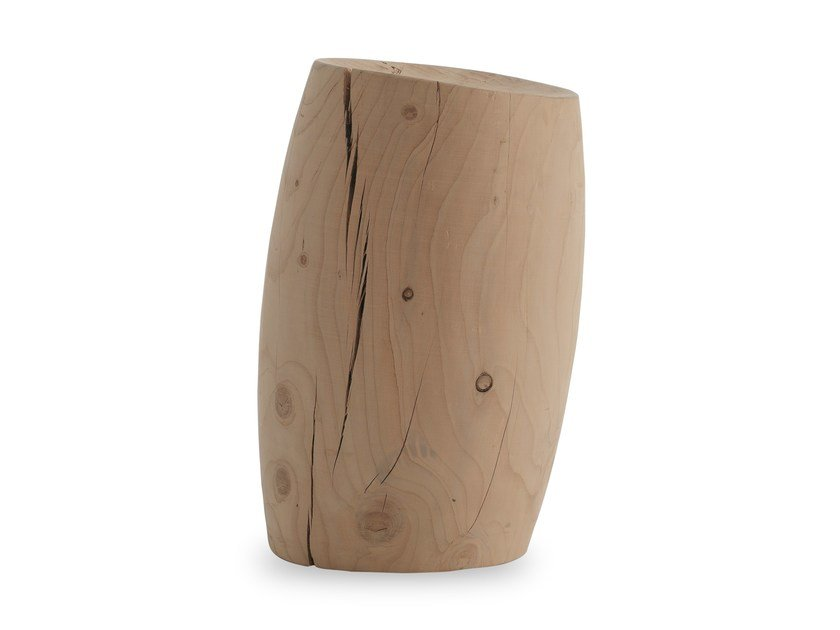 Cedarwood stool FIJI by Riva 1920