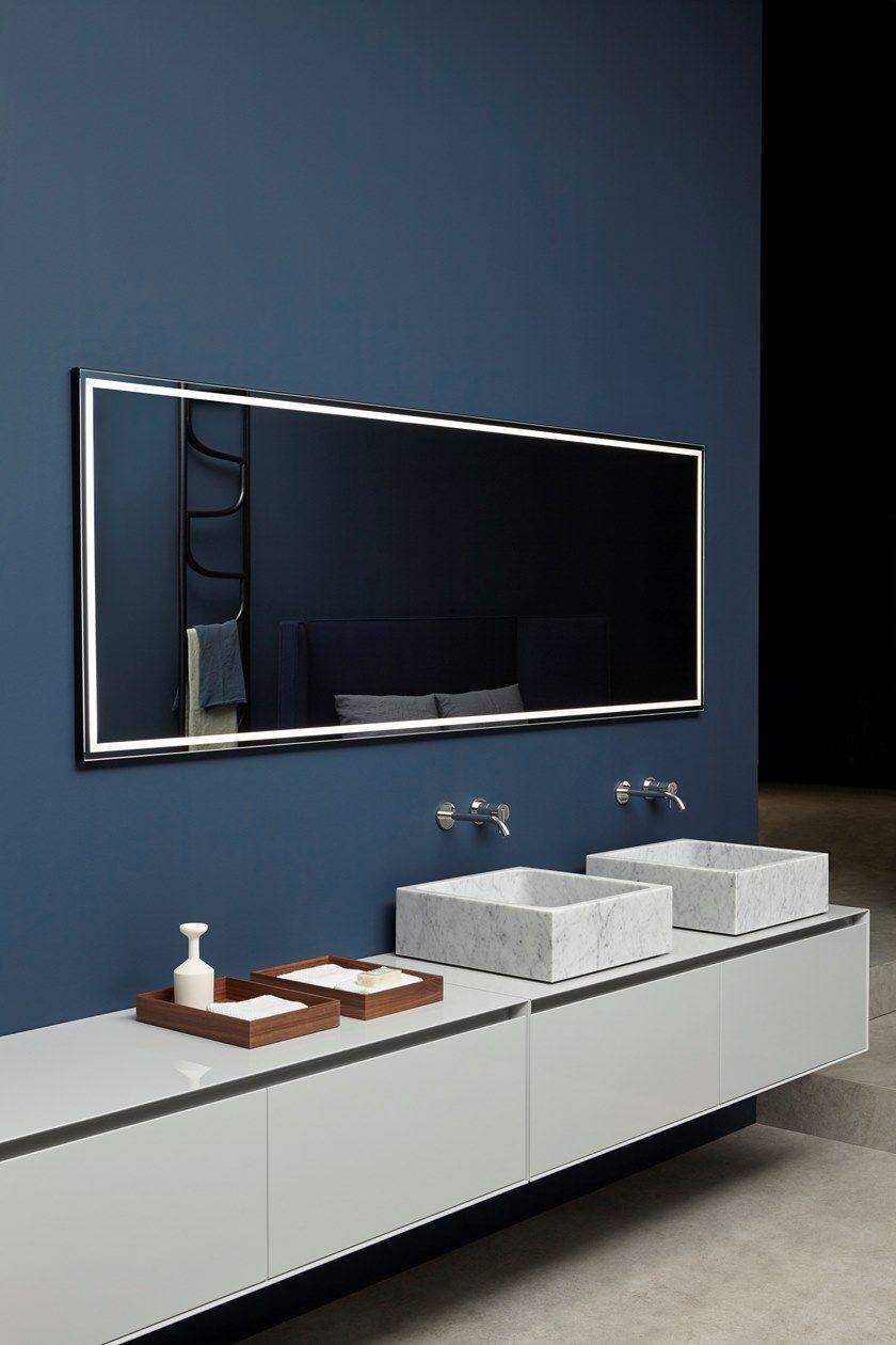 Antonio Lupi Specchi Bagno.Specchio Da Parete Con Illuminazione Integrata Per Bagno Fila