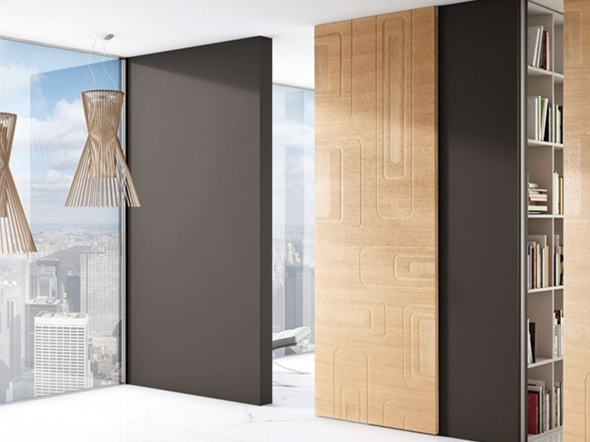 Sliding door without frame FILA by BARAUSSE