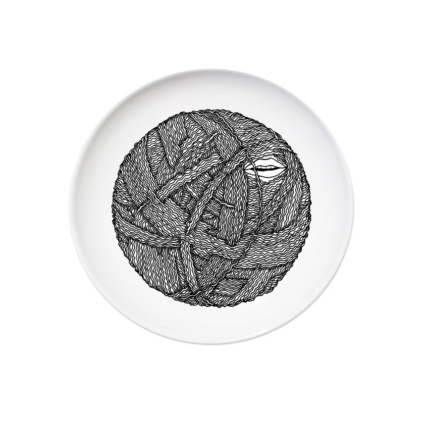 Ceramic dinner plate FILATURE I by Kiasmo