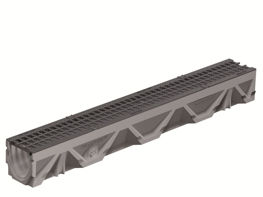 Concrete Drainage channel and part CANALE FILCOTEN LIGHT 100/5 H140 | Drainage channel and part by GREENPIPE