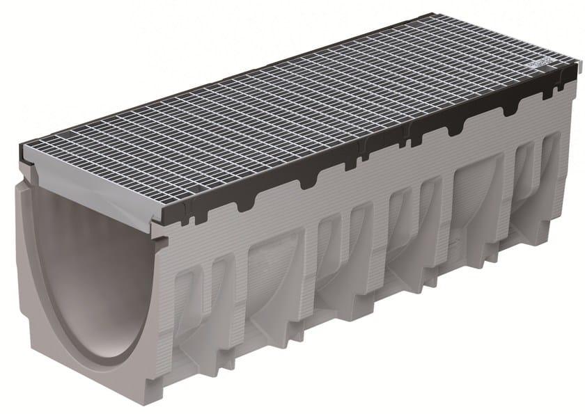 Concrete Drainage channel and part FILCOTEN PRO 300/10 H410 BORDO GHISA | Drainage channel and part by GREENPIPE