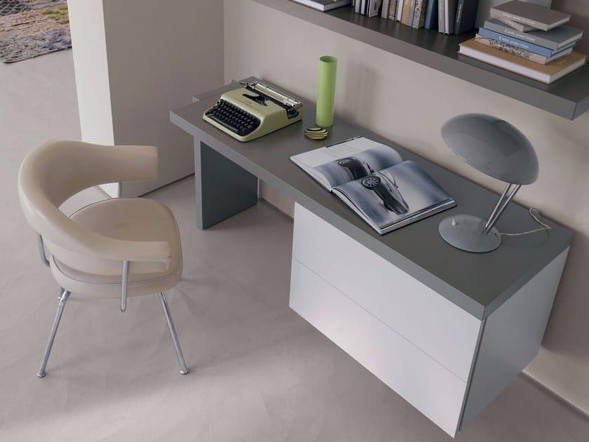 Wooden secretary desk FILDESK by Caccaro