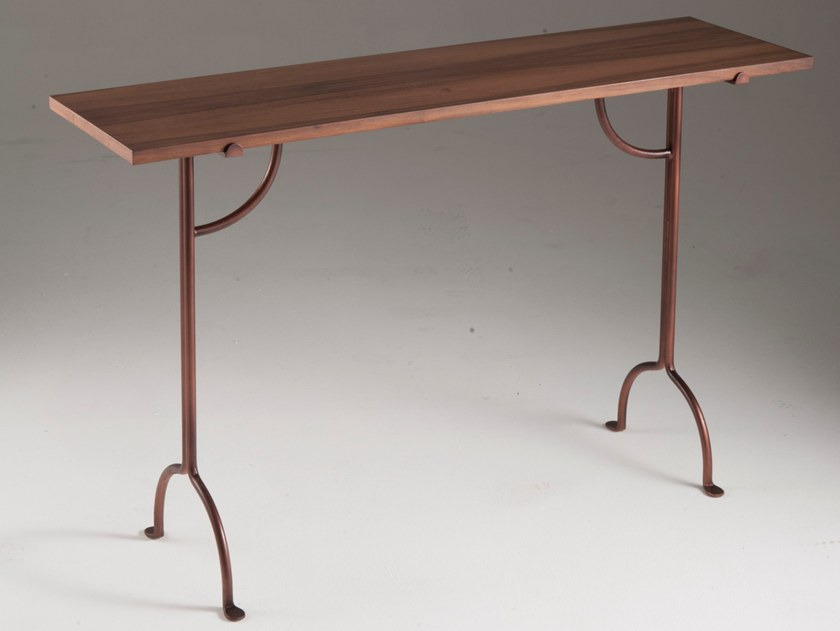Rectangular wood veneer console table FILICUDI | Wood veneer console table by Barel