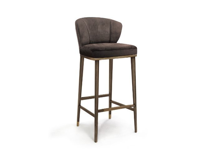 Barstool with footrest FILIPE VI | Barstool by Duquesa & Malvada