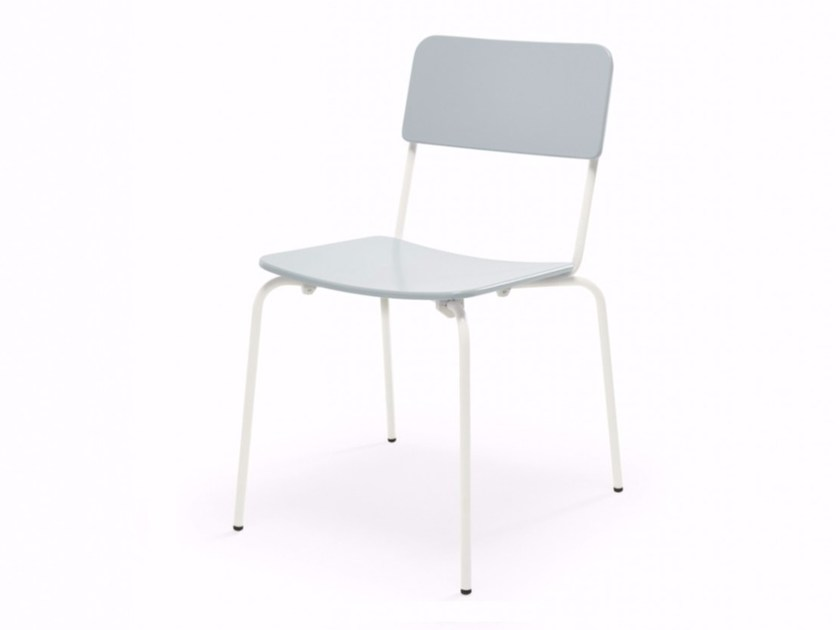 Stackable open back chair FILL | Chair by Adico
