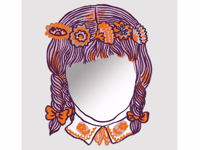 Wall-mounted mirror FILLE by Moustache