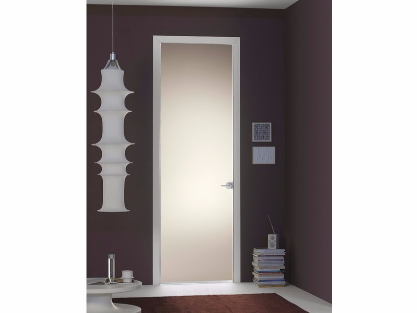 Door with concealed hinges FILO A FILO - SATIN GLASS by PORTEK