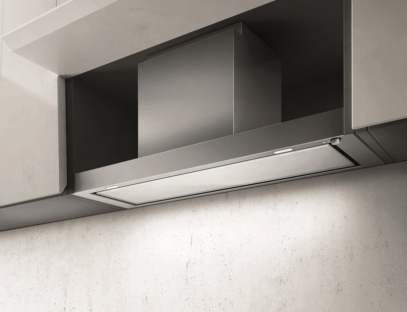 Built-in Glass and Stainless Steel cooker hood FILO By Elica