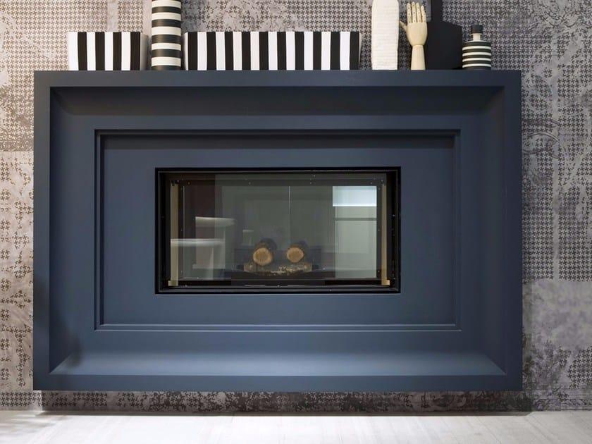 Wood-burning steel Boiler fireplace FILOSKEMA by Antonio Lupi Design