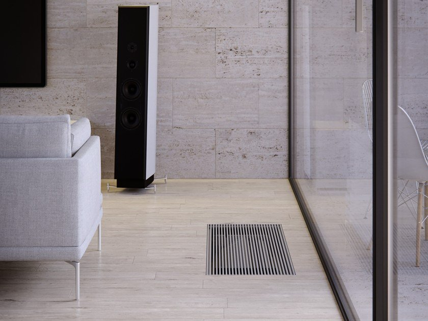 Floor-standing built-in fan coil unit FILOTERRA SLF 400 by Innova