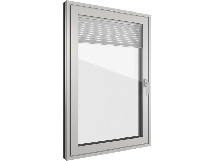 Finestra in alluminio con veneziana integrata FIN-Project Classic-line Twin Alluminio by FINSTRAL