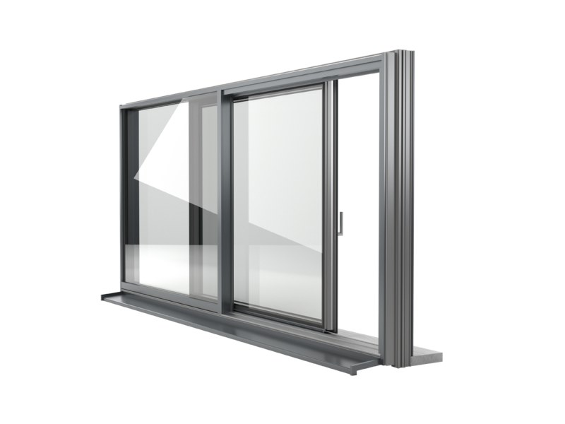 Aluminium and PVC sliding window FIN-SLIDE CLASSIC-LINE by FINSTRAL