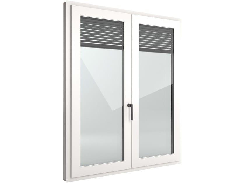 Finestra a battente di sicurezza in PVC con veneziana integrata FIN-Window Nova-line Twin PVC-PVC by FINSTRAL