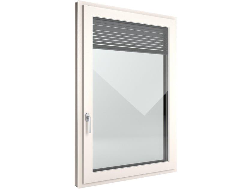 Finestra a battente di sicurezza in PVC con veneziana integrata FIN-Window Slim-line Twin PVC-PVC by FINSTRAL