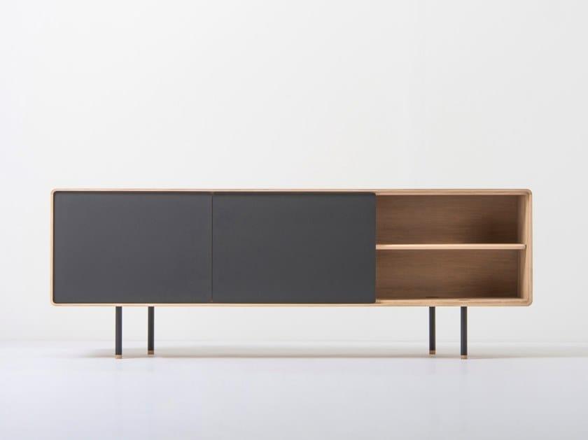 Oak TV cabinet / sideboard FINA | TV cabinet by Gazzda