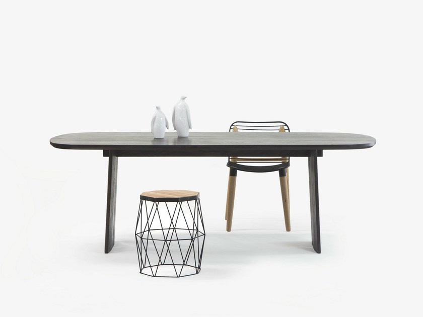 Oak dining table FINE TORI TABLE by Specimen Editions