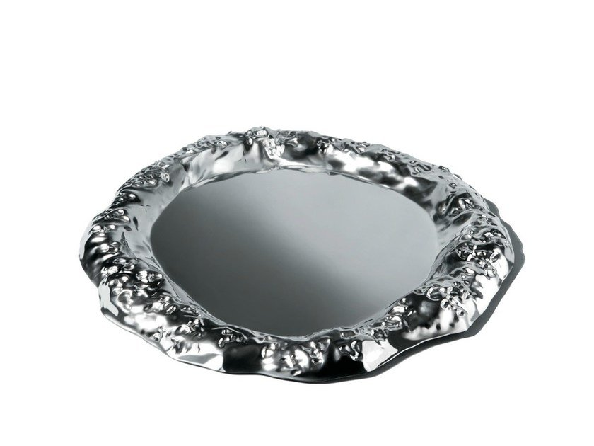 Stainless steel tray FINGERNAIL'S WORK by Alessi
