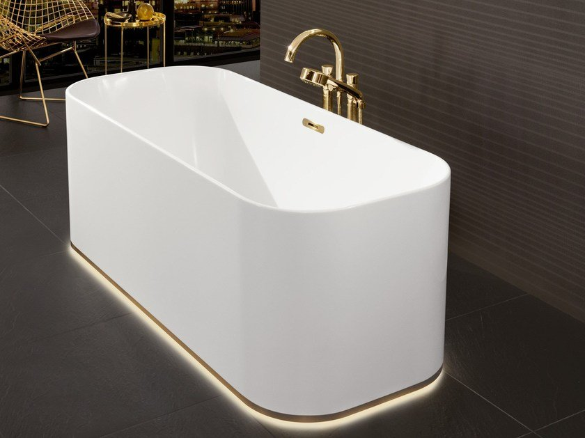 Vasca Da Bagno Freestanding Rettangolare : Finion vasca da bagno centro stanza by villeroy & boch