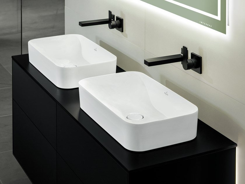 Countertop TitanCeram washbasin FINION   Countertop washbasin by Villeroy & Boch