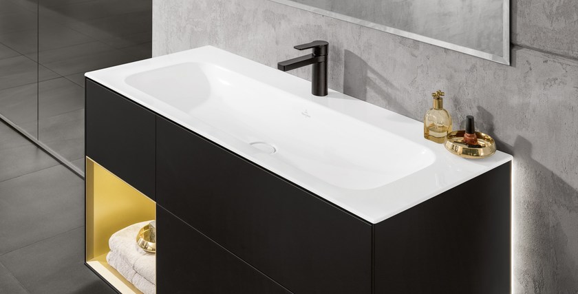Superbe Lacquered Wall Mounted Vanity Unit FINION | Vanity Unit By Villeroy U0026 Boch