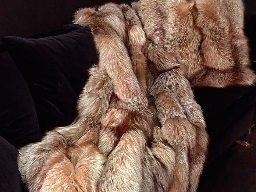 Natural fur throw and cushions FINLAND by Miyabi casa