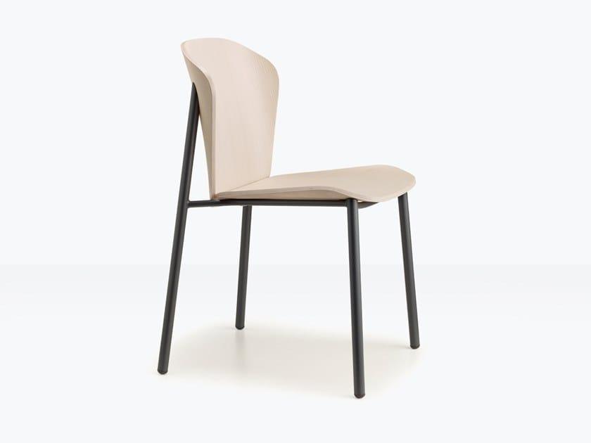 Sedia in acciaio e legno FINN METAL WOOD | Sedia by SCAB DESIGN